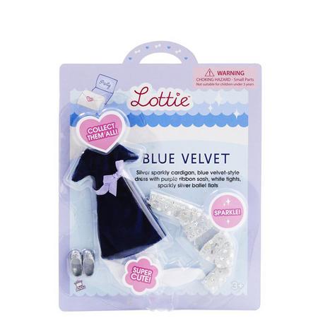 Blue Velvet Outfit Set