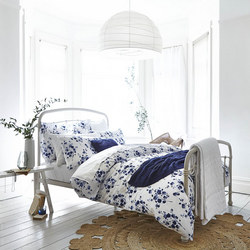 Cottonsoft Sprig Print Duvet Cover Set Blue