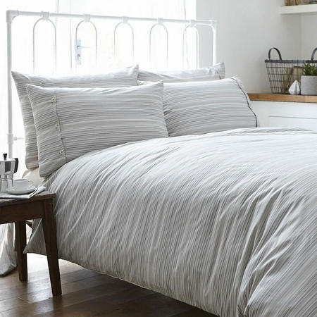 Woven Stripe Duvet Set Natural