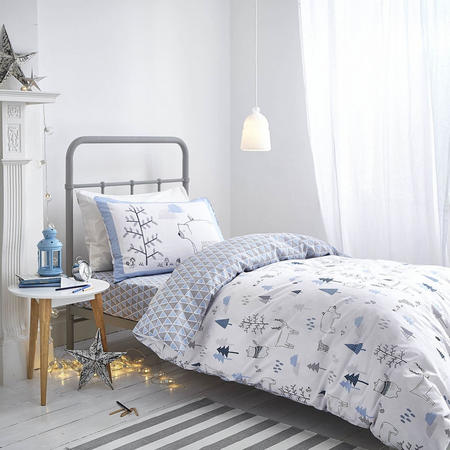 Cottonsoft Nordic Print Duvet Cover Set Blue