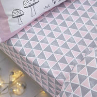 Cottonsoft Nordic Print Sheet Pink