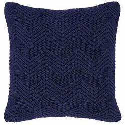 Cotton Soft Knit Cushion Navy