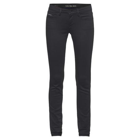 Mid Rise Skinny Jeans Black