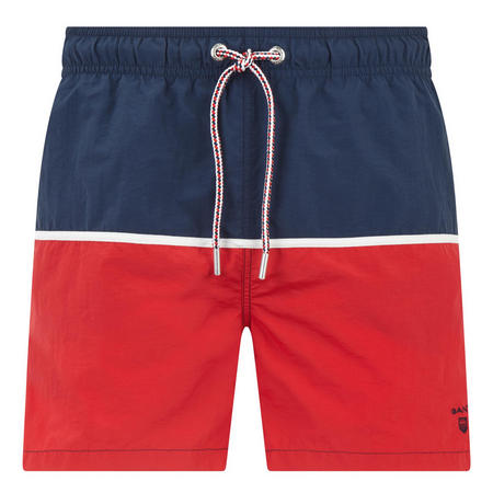 Colour Block Swim Shorts Red