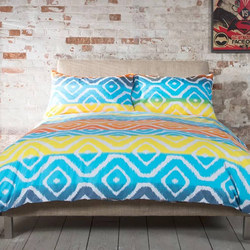 Deyong Fog Earth Duvet Set Blue