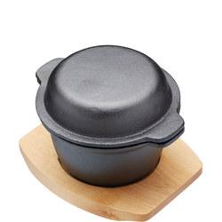 Artesa Cast Iron Mini Pot with Lid Black