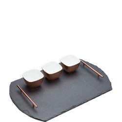 Artesa 4 Piece Slate & Copper Serving Set