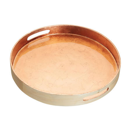 Artesa Bamboo Serving Tray with Copper Finish 38cm  Brown
