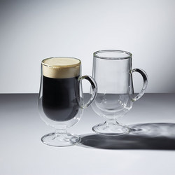 Le'Xpress Double Walled Irish Coffee Glasses Clear