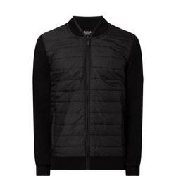 Baffle Zip Front Puffa Jacket Black