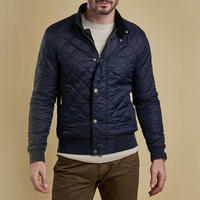 Moss Diamond Quilted Bomber Jacket Navy