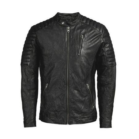 Leather Biker Jacket Black