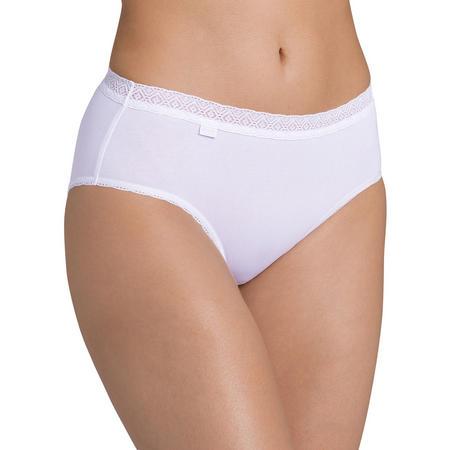 Evernew Lace Midi Brief White