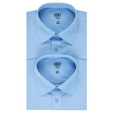 Twin Pack Long Sleeve Shirts Boys Blue