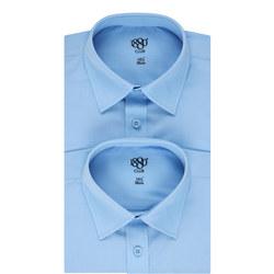 Twin Pack Long Sleeve Shirts Boys Blue