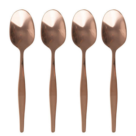 Origins Set Of 4 Copper Espresso Spoons