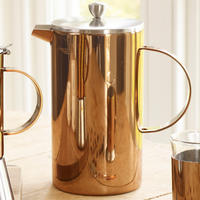 Double Walled 8 Cup Copper Cafetiere