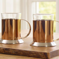 Glass Cups Set Of 2