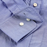 Plain Broadcloth Shirt Blue