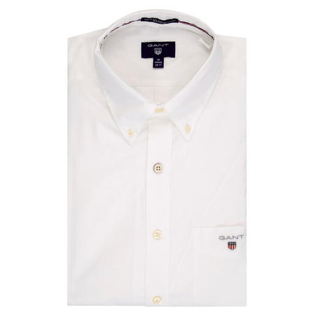 Plain Broadcloth Shirt White