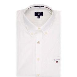 Plain Broadcloth Shirt White