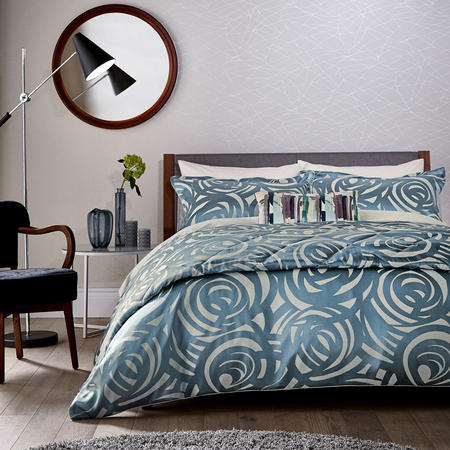Vortex Duvet Cover Dark Blue