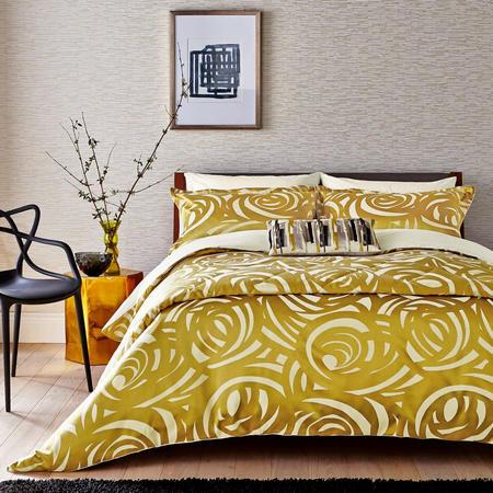 Vortex Coordinated Bedding Set Gold