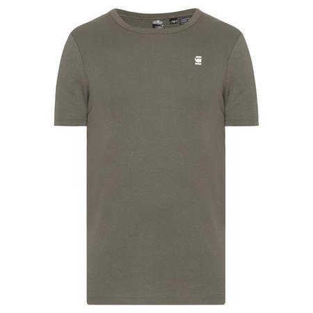 Dap Logo Crew Neck T-Shirt Khaki