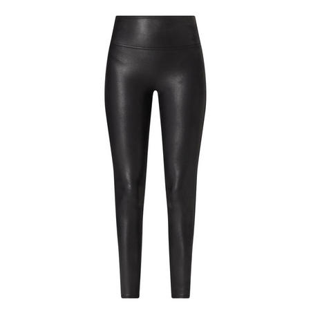 Faux Leather Shaping Leggings Black