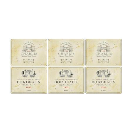 Vin De France Set of 6 Placemats