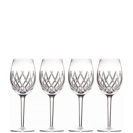 John Rocha Seda White Wine Set of 4