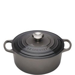 Signature Cast Iron Round Casserole Flint