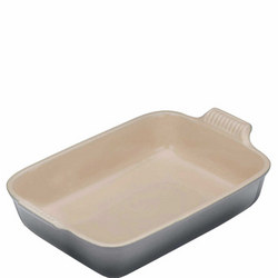Stoneware Heritage Rectangular Dish 32 cm Grey