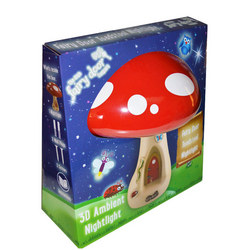 3D Toadstool Night Light Red