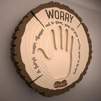Worry Plaque Multicolour