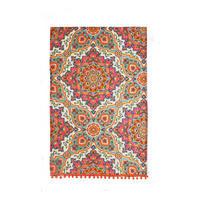 Moroccan Tiles Cotton Tea Towel Multicolour
