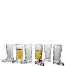 Kick Back Shot Glasses Set of 6