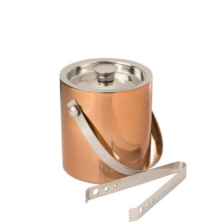 Epicurean Hammered Copper Ice Bucket With Tongs
