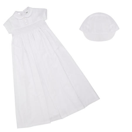Smock Christening Robe White