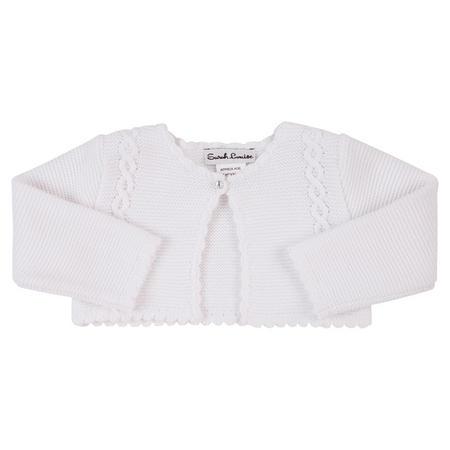 Baby Girls Knitted Bolero White