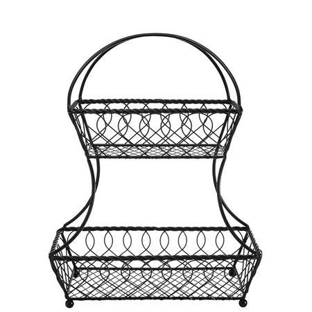 Mikasa 2 Tier Wire Flatback Basket