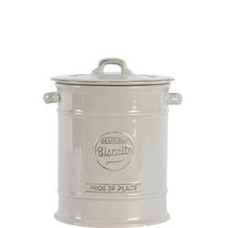 Pride Of Place Large Biscuit Jar Grey