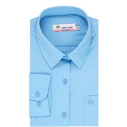 Long Sleeve School Blouse Blue