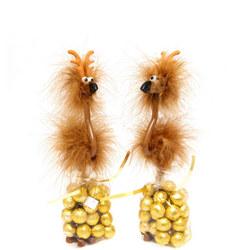 Fluffy Reindeer Bird Pen & Chocolates