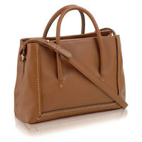 Boundaries Medium Tote Bag  Brown