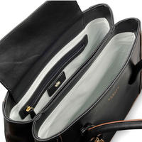 Boundaries Large Shoulder Bag  Black