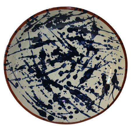 Blue Splatter Bowl 38 cm