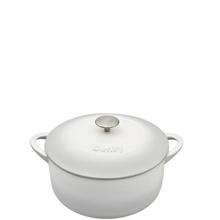 Natural Canvas Cast Iron 24cm Round Casserole