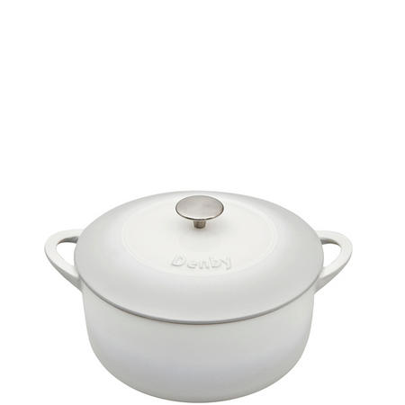 Natural Canvas Cast Iron Round Casserole 26cm