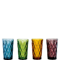 Highgate Hiball Tumblers 4 Piece Box Set Multicolour